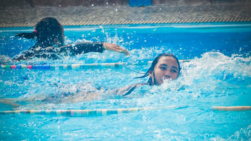Alina Efimova took gold in the swimming competition.