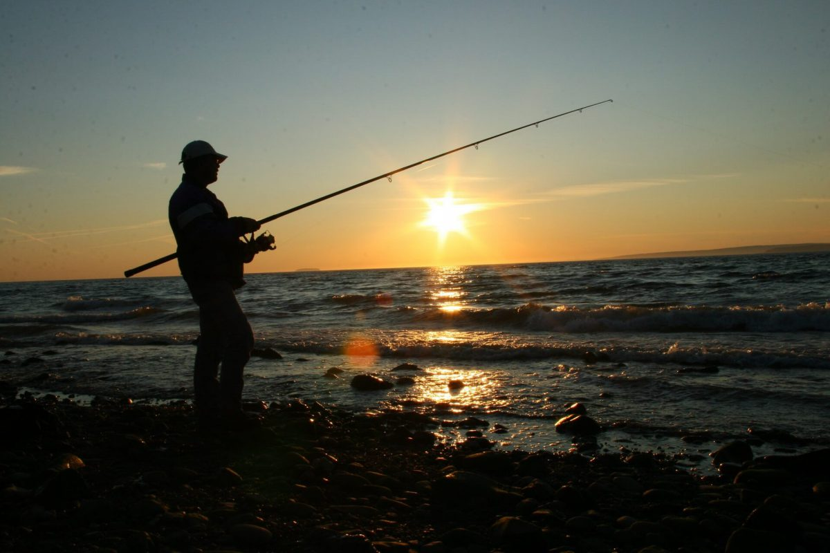 Sports fishing competitions are held on lake Baikal.