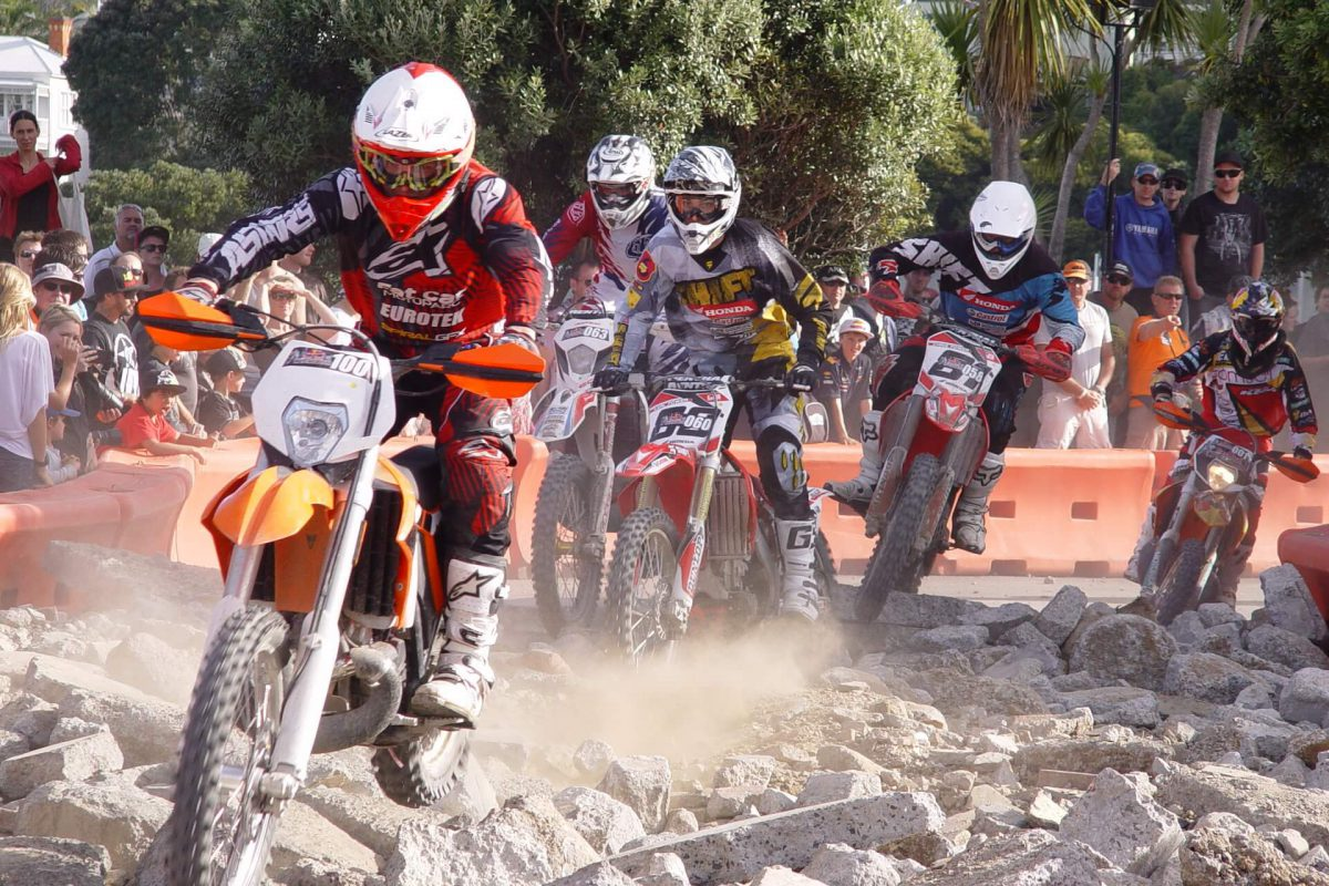 Off-road motorcycle racing.