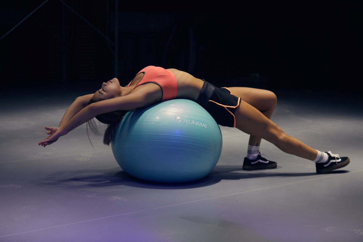 Ball exercises are good for the spine.