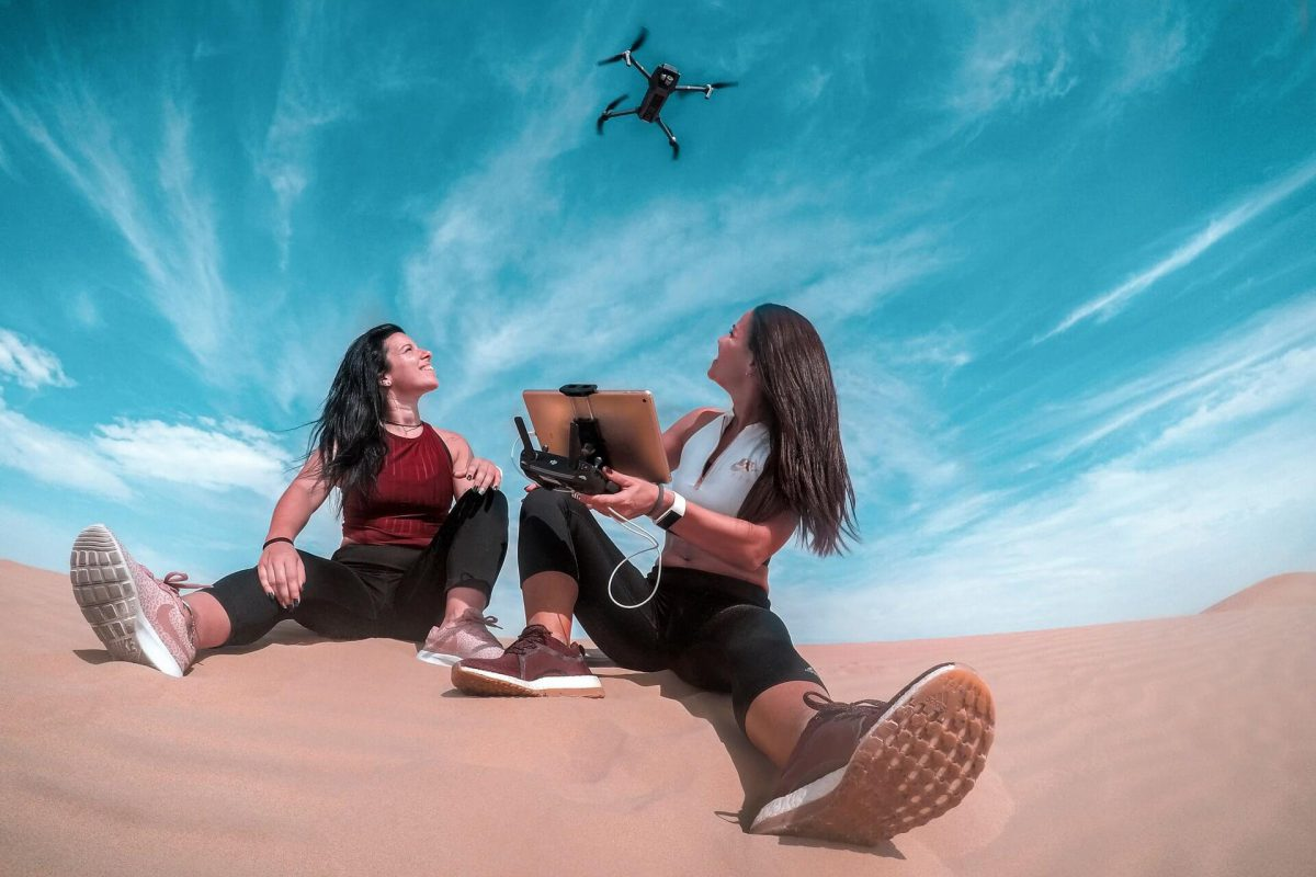 The new model quadrocopter works even in extreme conditions.